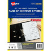 Avery L7411-10 Extra Wide Dividers Plastic A4 1-10 Index Tabs White