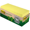 Post-It 654R-24CP-CY Greener Note Cabinet Pack 76x76mm Recycled Yellow Pack of 2