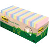 Post-It 654R-24CP-AP Greener Note Cabinet Pack 76x76mm Recycled Pastel Pack of 2
