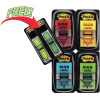 Post-It 680-SH4VA Flags Value Pack 25x43mm S/Here Red Yellow Blue Green Pack of