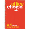 Office Choice Spiral Notebook A4 Ruled 120 Page Side Bound