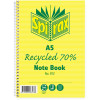 Spirax 812 Recycled Notebook A5 Ruled 120 Page 70% Recycled Side Bound
