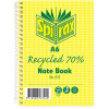 Spirax 813 Notebook Recycled A6 Ruled 100 Page 70% Recycled Side Bound