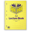 Spirax 906 Lecture Book A4 Ruled 7 Hole Perforated 140 Page Side Opening
