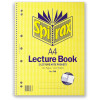 Spirax 598 Lecture Book A4 140 Page 7 Hole With 2 Pocket Side Opening