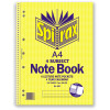 Spirax 606 Subject Book A4 Ruled 7 Hole Perforated 320 Page 4 Subject Side Openi