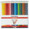Columbia Coloursketch Coloured Pencils Round Assorted Colours Wallet Of 24