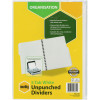 Marbig Manilla Divider A4 5 Tab Unpunched White