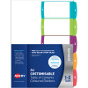 Avery L7411-5 Customisable Dividers A4 1-5 Index Tabs Bright Assorted