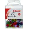 Esselte Drawing Pins Assorted Colours Pack Of 100