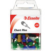 Esselte Chart Pins 8x22mm Assorted Pack Of 50