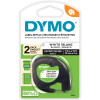 DYMO 10697 LetraTag Labelling Tape 12mmx4m Paper White Pack of 2