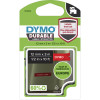 Dymo D1 Label Cassette Tape Durable 12mm x 3m White on Red