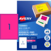 Avery High Visibility Shipping Laser Labels L7167FP 199.6x289 Pink 25 Labels, 25