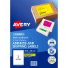 Avery High Visibility Shipping Laser Labels L7167FY 199.6x289 Yellow 25 Labels,