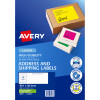 Avery High Visibility Shipping Laser Labels L7163FG 99.1x38.1 Fluro Green 350 La