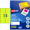 Avery High Visibility Shipping Laser Labels L7163FY 99.1x38.1 Yellow 350 Labels,