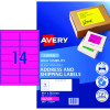 Avery High Visibility Shipping Laser Labels L7163FP 99.1x38.1 Pink 350 Labels, 2