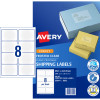 Avery Shipping Inkjet Labels J8565 99.1x67.7mm Frosted Clear 200 Labels, 25 Shee