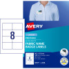 Avery Fabric Name Badge Laser Labels L7418 86.5x55.5mm 120 Labels, 15 Sheets