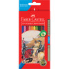 Faber-Castell Classic Colour Pencils Assorted Including 1 Gold Pencil Pack of 12