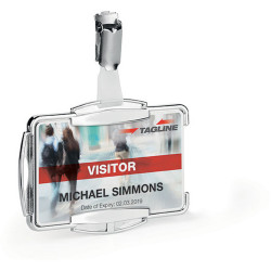 Durable Card Holder RFID SECURE MONO Silver Pack Of 10