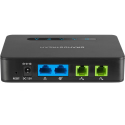 Grandstream HT812 Telephone Adapter Two Port VoIP Gateway 2 FXS with Gigabit NAT