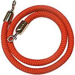 Visionchart Barrier Rope Red with Chrome Ends 1.5m