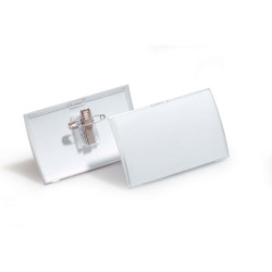 Durable Click Fold Name Badge With Combi Clip Pack Of 25
