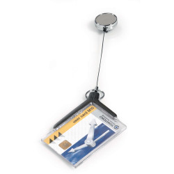 Durable Convention Card Holder Deluxe Reel Pro Pack Of 10