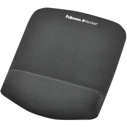 Fellowes Mouse Pad Wrist Rest Plush Touch Lycra Microban Graphite
