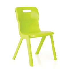 Titan Stackable Student Chair 350mm High Suits Age 5-7 Lime Shell