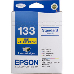 Epson E133VP - 133 Ink Cartridge Value Pack Assorted Colours