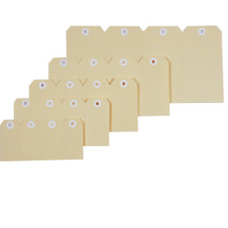 Esselte Shipping Tags No 1 35x70mm Buff Box Of 1000