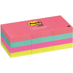 Post-It 653AN Notes 36x48mm Neon Assorted Pack of 12