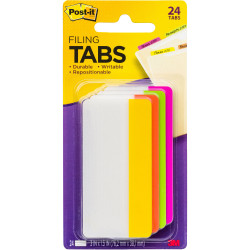 Post-It 686-PLOY3IN Durable Tabs 75x38mm Bright Assorted Pack of 24