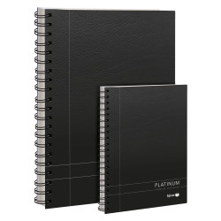 Spirax 400 Notebook Platinum A4 Ruled 90gsm 200 Page Black Side Opening