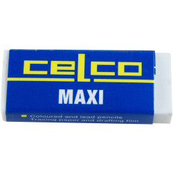 Celco Maxi Eraser 56x22x11mm For Coloured & Lead Pencils