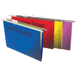 Crystalfile Suspension Files Enviro Foolscap With Tabs & Inserts Assorted Pack O