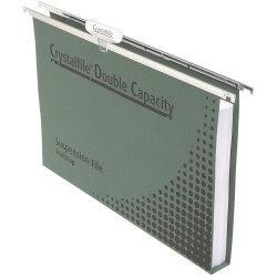 Crystalfile Suspension Files Enviro Double Capacity With Tabs & Inserts Box Of 5