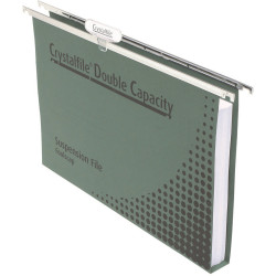 Crystalfile Suspension Files Enviro Double Capacity With Tabs & Inserts Pack Of
