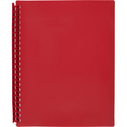 Marbig Display Book A4 Refillable 20 Pocket Red