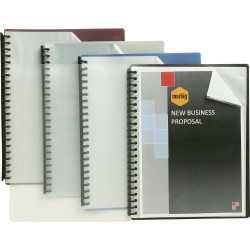 Marbig Display Book A4 Clear Front Refillable 20 Pocket Blue