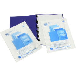 Marbig Display Book Refills A4 Clear Pack Of 10