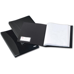 Marbig Professional Soft Touch A4 Display Book 36 Pocket Black