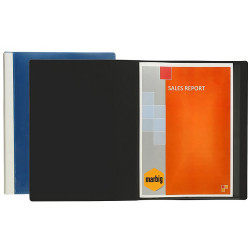Marbig Clearview Display Book A4 24 Pocket Insertable Cover Black
