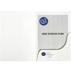 Marbig Professional Series Presentation Folders A4 Gloss White Pack Of 20