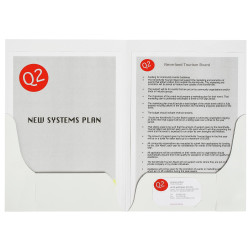 Marbig Professional Series Presentation Folders A4 Double Pocket Gloss Pack Of 1