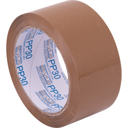 Vibac PP30R Packaging Tape 48mmx75m Brown Pack of 6