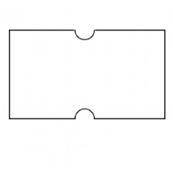 Pricing Gun Labels White Removable 21x12mm Pack of 10
